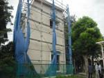 建築中建物の台風対策