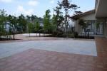 松戸老人ホーム 中庭からの眺め