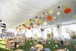 ガーデンにテントを張ってウェルカムパーティー