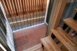 小さな中庭(レンガの床)