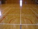 体育館 バスケットボール改正変更工事仕上がり写真