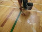 体育館 床 塗装(着色)