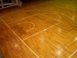 バスケットボールコートライン改線工事仕上がり