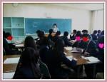 沖縄県内の高校生相手にキャリア教育を行っています