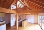 ヒノキ造りの家
