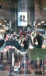 岩手県の一ノ関駅前にて
