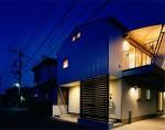 岩槻の家-1外観夜景