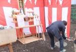 2012/6吉日の地鎮祭、サラリーマンが世田谷に賃貸併用住宅を