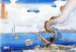 「江戸の隅田川」  浮世絵に描かれた謎の塔は「スカイツリー?」
