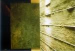 懐石閑院宮 露地 土壁と錆壁