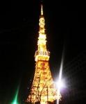 2013年開幕の日の「東京タワー」