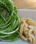 食材 水菜と油揚げ