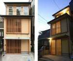 格子引戸の家/サイディングと木格子の和モダン住宅