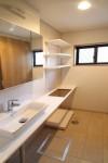 狭小住宅のリノベーション 洗面所