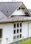 平塚の家 西面詳細/階段吹き抜け部の9個の窓