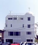 恵比寿の家 西側外観/専用住宅+賃貸オフィス