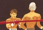 イラスト「勇退(宮田ボクシングジム・熊野和義選手)」ご紹介