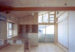 松戸の家 2階LDより南方向を見る