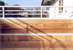 リフォーム 2階ウッドデッキの手摺部分の詳細