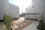 中庭のあるテラスハウス 広場