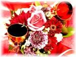 センターピース ~花にグラスを添えて~
