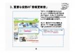 ホームページの重要な役割の「情報更新窓」