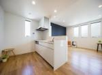 収納の家(ライフスタイル住宅) キッチン・リビングデザイン