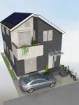 東京多摩産材杉板貼り屋根なり天井2階LD 構造見学会